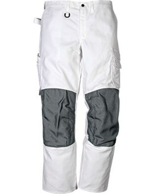Cotton troousers 268 BM in white for painters and bricklayers
